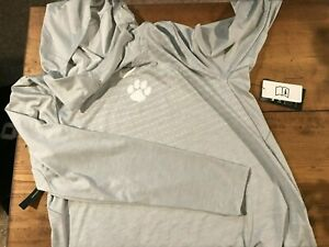 Men's Nike Dri Fit Clemson Tigers Pullover Lightweight Hoodie (sz: M) Light Gray