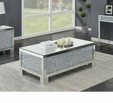 NEW Mirrored Coffee Table Diamond Crystal Living Room Crushed Diamond Furniture