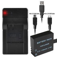 1100mAh Battery+Charger for SJCAM M10 SJ4000 SJ5000+ WiFi Sport Action Camera UK