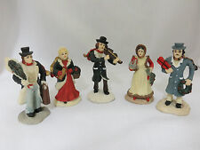 """Lot 5 Christmas Village People Holiday Town Accessories 3"""" Resin Men Women"""