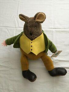 """1982 13"""" Samuel Whiskers - Plush Mouse - Eden Toys - Beatrix Potter"""