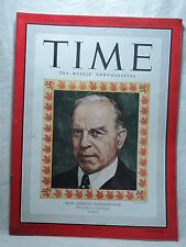 TIME Magazine January 7 1946 Canadian Prime Minister MACKENZIE KING