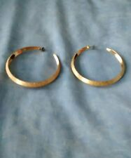 Vintage 00'S Claire's Gold Coloured Glitter Hoop Statement Earrings Bnwot