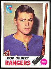 1969 70 TOPPS HOCKEY #37 ROD GILBERT NM N Y NEW YORK RANGERS CARD