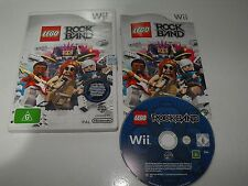 "Lego Rock Band For Nintendo Wii ""Fast And Free Postage"""