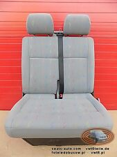 VW T5 Seat front bench double folding  Transporter Inka Inca Sitzbank