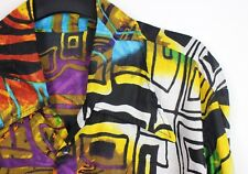 Mens Vintage 70s Style Disco HANDMADE Crazy Print Prince Festival Party Shirt L