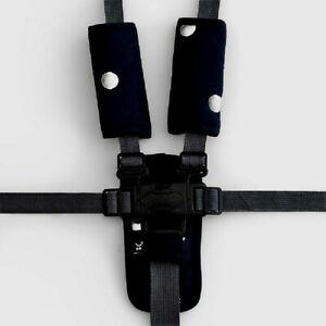 Outlook 3 Piece Harness Cover Strap Blck w/Silv spots Cotton Baby Comfort Cotton