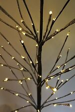 REDUCED Snowy Brown Birch Christmas Twig Tree 1.5M Tall -96 WarmWhite LED Lights