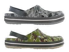 Crocs Crocband Camo Clog Unisex Slip On Comfort Lightweight Sandals Shoes UK4-12