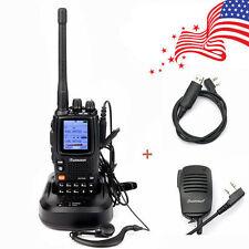 WouXun KG-UV9D + Speaker&Cable 136-174/400-512MHz Dual Band Duplex Walkie Talkie