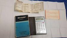 Calculatrice  vintage Sharp HONDA Estimate EL-8159 Miniature-boîte-Notice-TBE