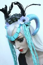 Warrior Witch Ram Horn Dread Crown Boho Head Band Indie Gothic