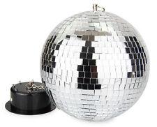 Spiegelkugel, Discokugel, Komplett mit Motor, Beleuchtung und Netzteil, Spiegel