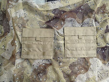 2 USGI Eagle Industries Side Plate Pockets Coyote Brown New Molle Pals