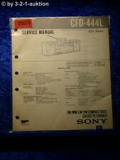 Sony Service Manual CFD 444L Cassette Recorder (#3523)