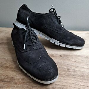 Cole Haan ZeroGrand Size 13 Midnight Gray Wing Tip Oxford C30273