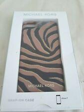 MICHAEL KORS I PHONE 7 CELL PHONE CASE brown black zebra leopard print