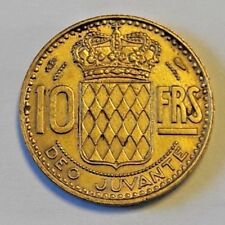 10 Francs 1950 KM#130 Rainier III  France MONACO