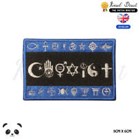 COEXIST Flag Symbol Logo Embroidered Iron On Sew On Patch Badge For Clothes etc