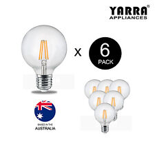 6 Pack Retro Edison Filament LED Globe Light Bulb Clear Glass 4.5W E27 3000K G95