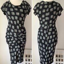 **REDUCED** Preloved - Diane Von Furstenberg (DVF) Print Silk Dress - Sz 10
