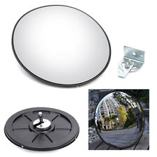 30CM Wide Angle Security Curved Convex Outdoor Road Mirror Traffic Driveway PC