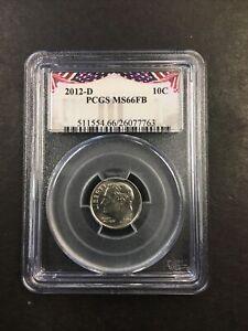 2012-D PCGS MS66FB ROOSEVELT DIME 10C NO RESERVE! BRILLIANT!