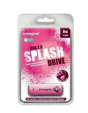 Integral 8GB Splash Pink USB 2.0 Flash Drive INFD8GBSPLP