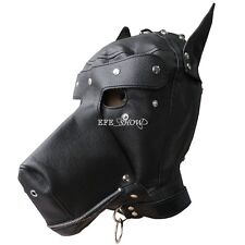 New Costume party PU Leather dog puppy Hood Gimp mask  PRIVATE LISTING