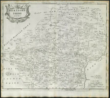 County map by J BOWEN OWEN /& E /'Hertford-Shire/' Hertfordshire 1753 old