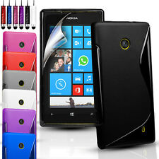 S-LINE SILICONE GEL CASE COVER FOR VARIOUS NOKIA PHONES & FREE SCREEN PROTECTOR