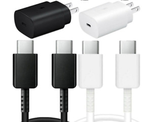 25W Super Fast Type C USB C Wall Charger For Samsung Galaxy S20 Note 10 Note 20