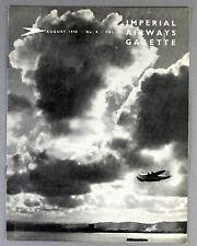 IMPERIAL AIRWAYS GAZETTE AUGUST 1938 FLYING BOATS AIR MAIL AUSTRALIA