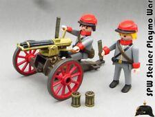 Playmobil Custom Western AMETRALLADORA GATLING GUN SOLDADOS NO INCLUIDOS ACW WW2