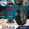 6PCS Snow Tire Chains for Car SUV Thickened Anti-skid Emergency Strap TPU w tool