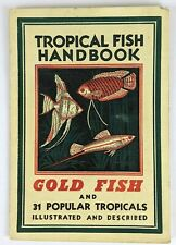 1951 Tropical Fish Handbook Goldfish Turtles Guenther Schott Booklet Scavengers