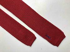 YSL YVES SAINT LAURENT VINTAGE '70 Cravatta Uomo Cotone Quadrata Man Cotton Tie