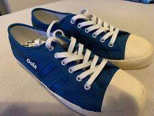 gola mens shoes Sz 9.5 Blue White Canvas Sneaker