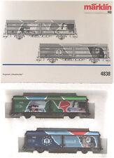 Märklin HO #4838 DSB World of Work 2 Car Set, LN/BX - 1995 to 1999