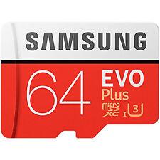 Samsung 64GB Evo Plus Micro SDXC TF Memory Card + Adapter 100MBs New UK MC64GA