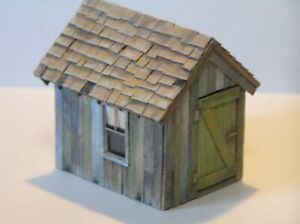 S Scale Scratch Built Small Shed Sn3 Sn2 1:64 Weathered American Flyer Size