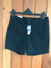 gap hadley shorts cotton black pockets curve uk 4 6 10 bnwt