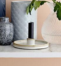 Kerzenständer Kerzenhalter rund Keramik Stabkerzen Nordic Scandi Bloomingville