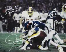 Lawrence Taylor & Joe Theismann Signed Giants Redskins 16x20 Photo JSA 25605
