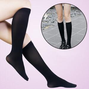 School Girl Solid Elastic Knee-High Stockings Socks Tights Cosplay Costumes