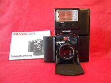 Minox 35 PL with Color-Minotar 2.8/35mm lens Blitz Minox FC35 Ledertasche