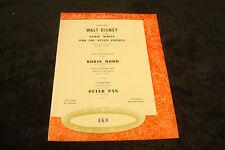 SNOW WHITE AND SEVEN DWARFS, ROBIN HOOD, PETER PAN 1951 Disney ad & THE RACKET