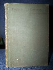 1888 English Into German, Exercises in Collar's Eysenbach, Vintage and Rare!