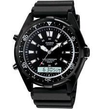 Casio Men/s Combo Black Resin Strap Watch, 100 Meter WR, Alarm,  AMW320B-1AV
